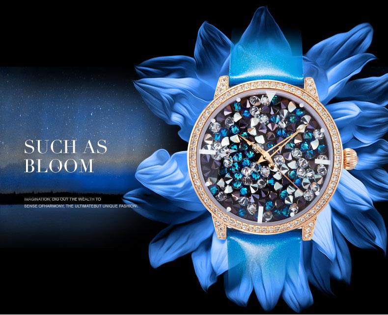 2016 OEM Watch Women Quartz Element Watch Luxury Colorful Women Watch Genuine Leather Water Proof Wristwatch HL590