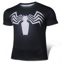 Men T Shirt Fashion Short Sleeve Spiderman Superman Venom Captain America Batman Iron Mans T Shirt