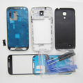 Full Housing Cover Middle Frame Bezel Back Case Screen Outer Glass Replacement for Samsung Galaxy S4