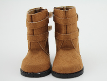 """Brown Boots for 18"""" American Girl Doll Clothes Shoes Winter Shoes Faux Suede(China (Mainland))"""