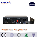 DHL Free shipping 100 Optical isolated DMX splitter 4 way dmx splitter for stage light