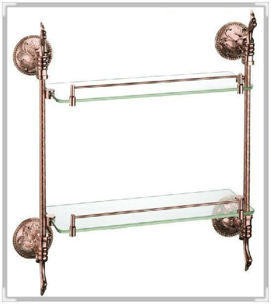 torneira press brass glass shelf, bathroom shelf,shelves,rose gold bathroom fittings,bathroom accessories RG012b-1 water bathroo(China (Mainland))
