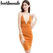 Buy Love&Lemonade Sexy V-Neck Halter Straps Party Dress TB 9621 for $31.99 in AliExpress store
