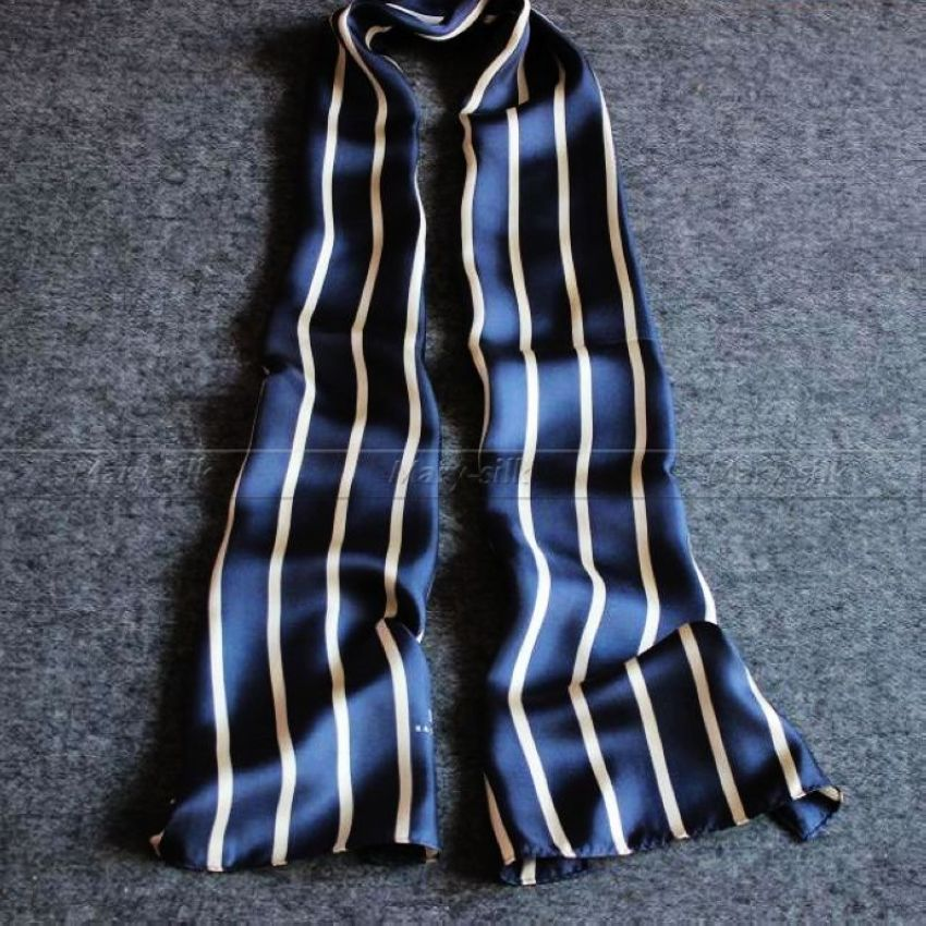 Great Gift__Fashion Mens 100% Silk Long Scarf/Cravat Scarives Brand Double Layer __For Spring Autumn Winter(China (Mainland))