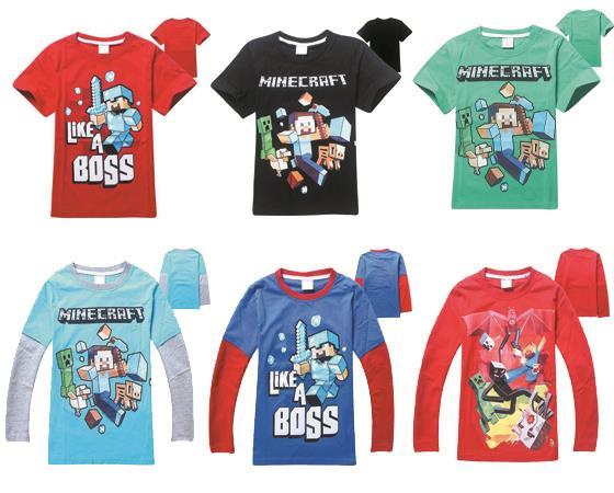 4-14T Minecraft Shirt Boy T-shirt Popular Game Kid T shirts Short Sleeved camiseta Minecraft Children t shirts Boys Clothes #C(China (Mainland))