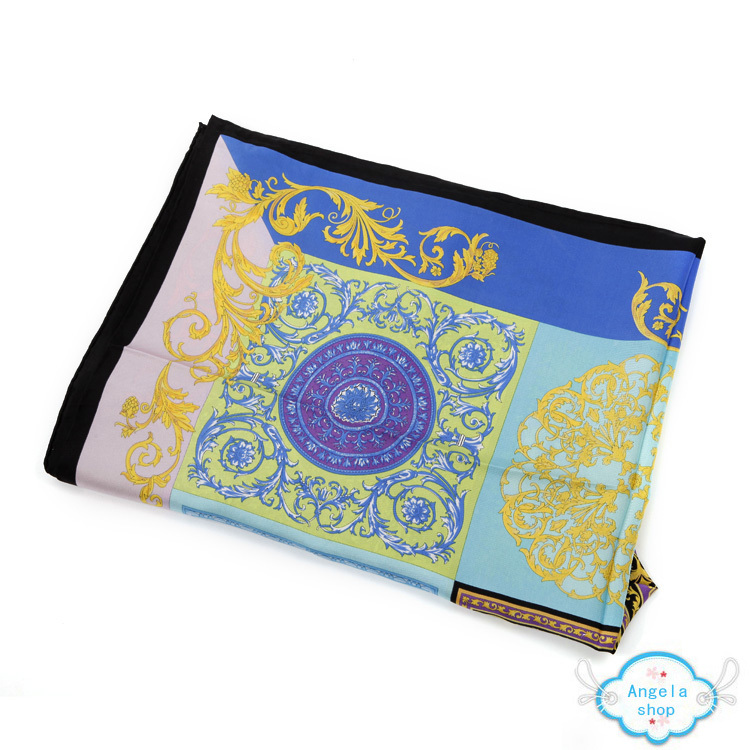 new wholesale 100 silk scarf blue color royal