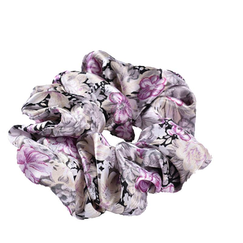5Pcs/Lot Printting Flower Design Women Scrunchie 20 Colors 2016 Women Hair Tie Ponytail Hair Accessories FC007(China (Mainland))