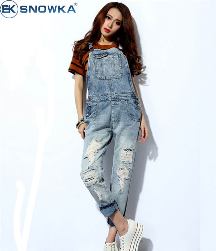 Women Jeans Fashion 2015 Ladies Overalls Thin Straps Sub ...