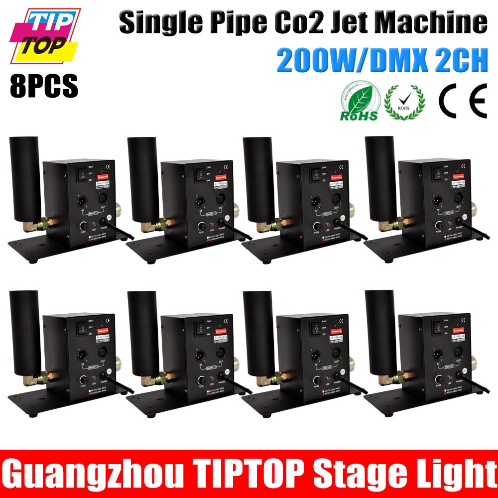 8XLOT Stage Effect Lights Single Pipe CO2 Jet Machine DMX512 Control/Hand Control DMX 90V 240V - GuangZhou TIPTOP Lighting Co.,Limited store