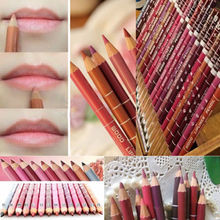 12Pcs/set Per Set maquiagem Women's Professional Makeup Lipliner Waterproof Lip Liner Pencil 15CM 12 Colors(China (Mainland))