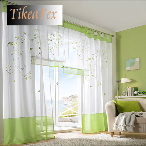 1 PC Home Textile Modern Fashion Embroiderdd White Curtain Sheer Window Curtains for Living Room Bedroom Window Curtain Blinds(China (Mainland))