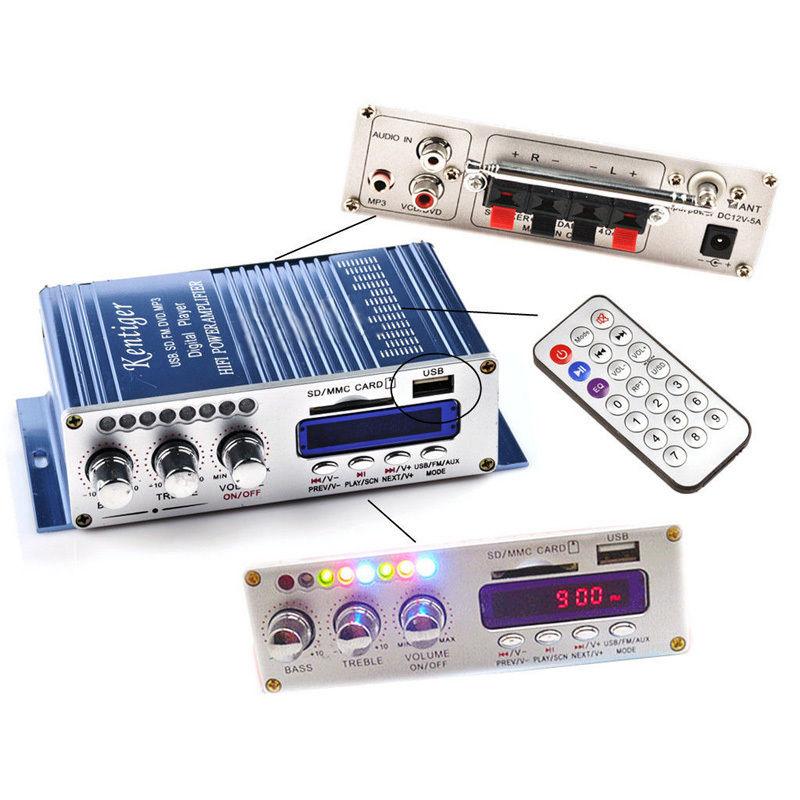 High quality 2CH 200W Power Mini HiFi Audio Stereo AMP Amplifier For ipod Car Home MP3 FM