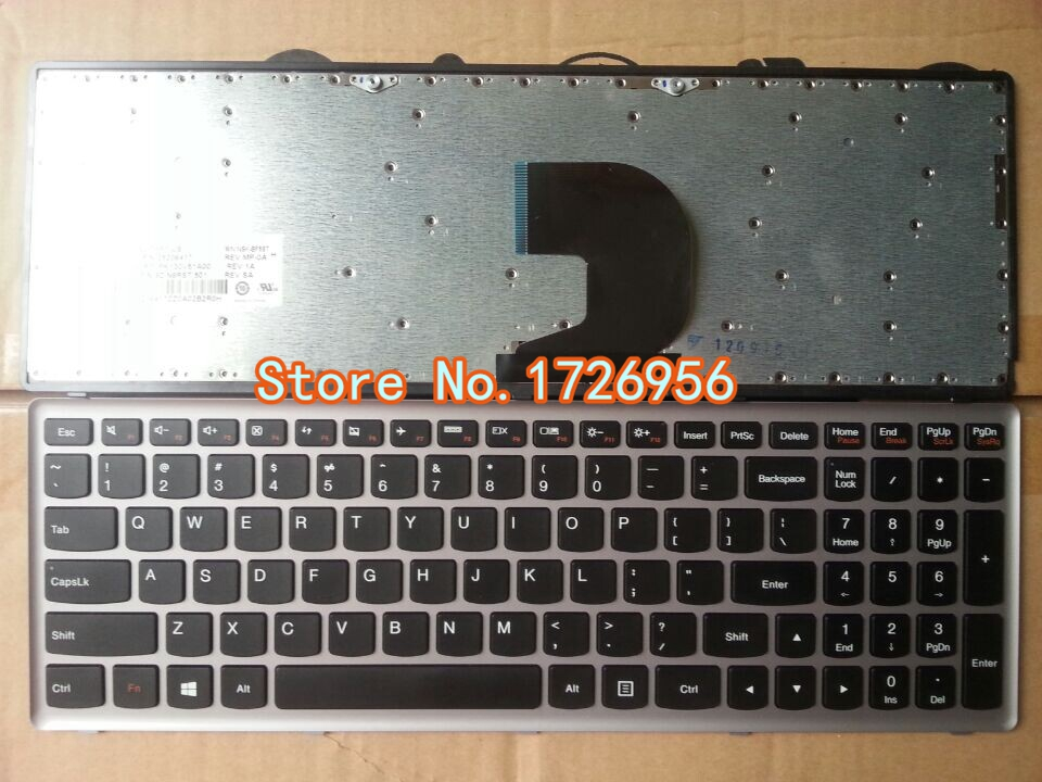 Genuine NEW Laptop replacement keyboard US QWERTY for LENOVO Z500 Z500A with frame(China (Mainland))