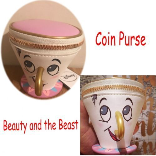 Disney In Stock PRIMARK Funny Beauty And The Beast Chip Coin Purse 3D Cup Trinket Bag Toys for Women Kids Birthday Gift(China (Mainland))