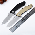 High Quality 9CR13MOV blade G10 Steel plated black titanium handle tactical folding knife hunting camping outdoor