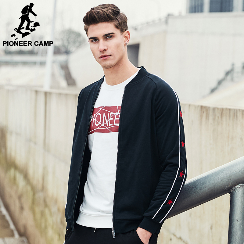 Pioneer Camp New arrival fashion jacket men Spring famous brand clothing zipper male coat casual outerwear for men AJK702053(China (Mainland))