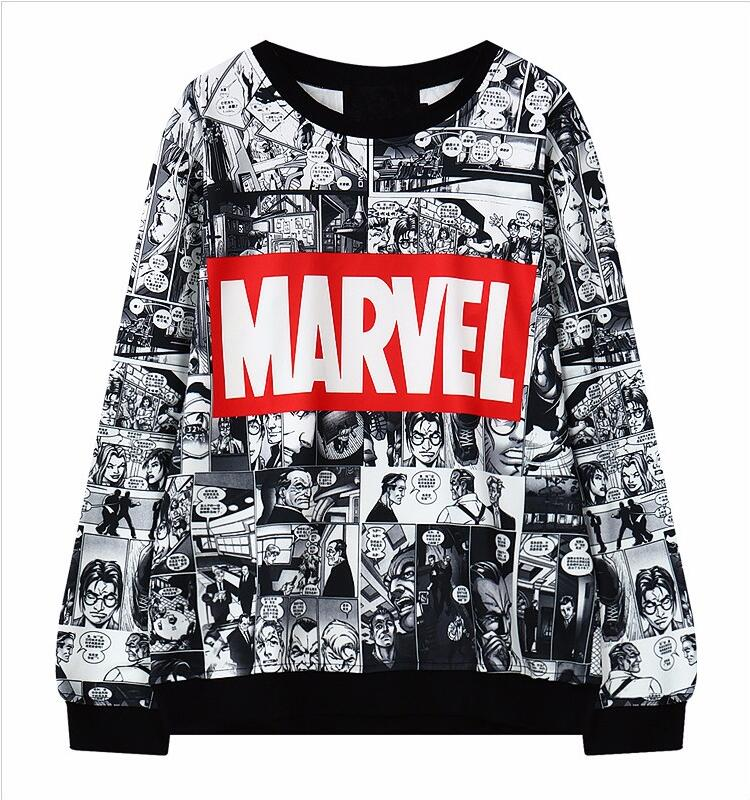Marvel Moletom Hoodie Sweatshirt Tracksuit Harajuku Black female Sweatwear for Women EXO Kpop BTS Adventure Time Women's Hoodies