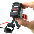 2016 Car Motorcycle Voltmeter With 4 2A Dual USB Car Charger Waterproof Motorcycle USB Chargers Red