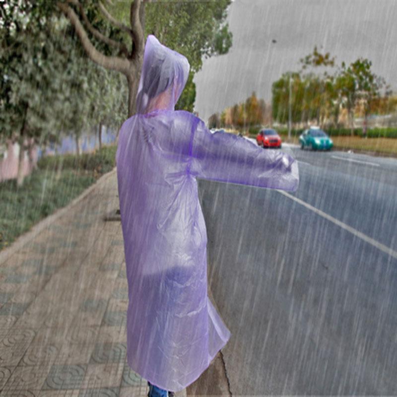Унисекс 5 шт./лот одноразовые плащ взрослых аварийного водонепроницаемый гуд пончо отдых путешествия должны пальто дождя
