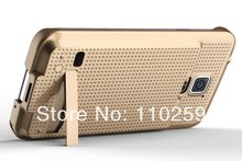 2014 new hot Jacket charging  Case  For Samsung Galaxy S5 SV i9600  flip stents case 100pcs/lot(China (Mainland))