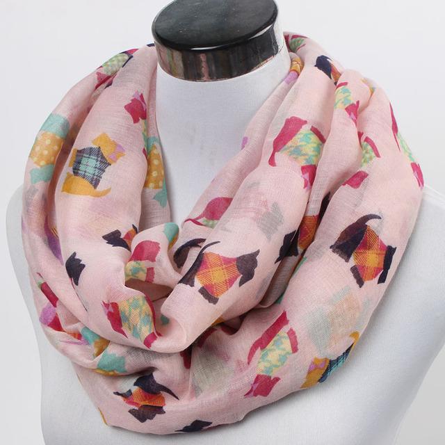 Женская животное собака бесконечность шарф женщины в домашние животные петля шарф ...
