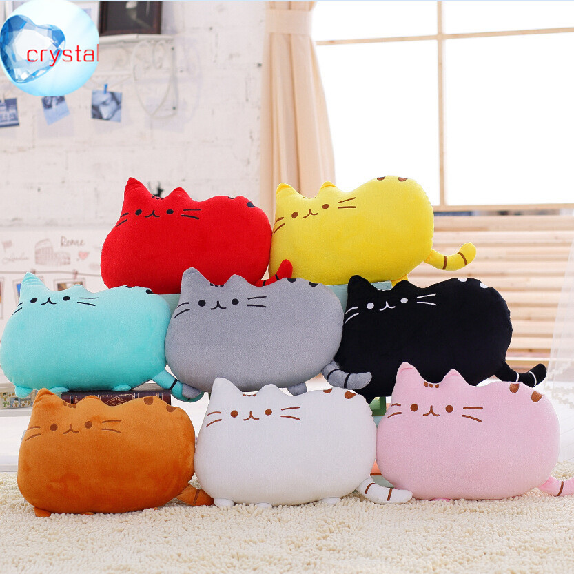 Kawaii Fat Big Tail Cat Cloud 100% Cotton Stuffed Back Cushion Seat Cushion Plush Toy Retail for girl best gift christmas gift(China (Mainland))