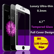 New 2 5D Full Cover White or Black Tempered Glass font b Screen b font font