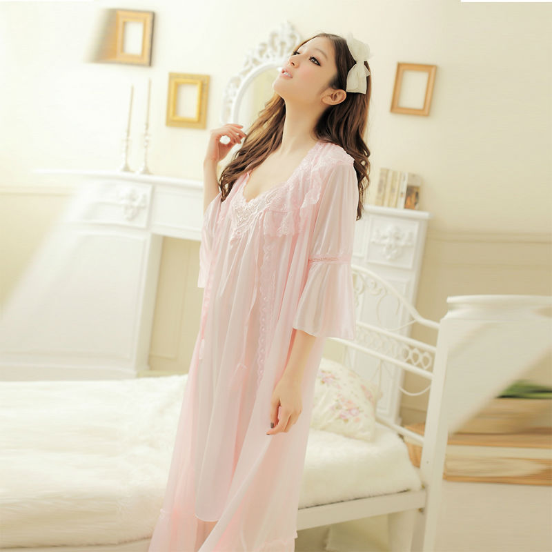 silk bathrobe ladies summer pajama sets women's Kimono satin robe robes women nightgown sleepwear long - fox center store