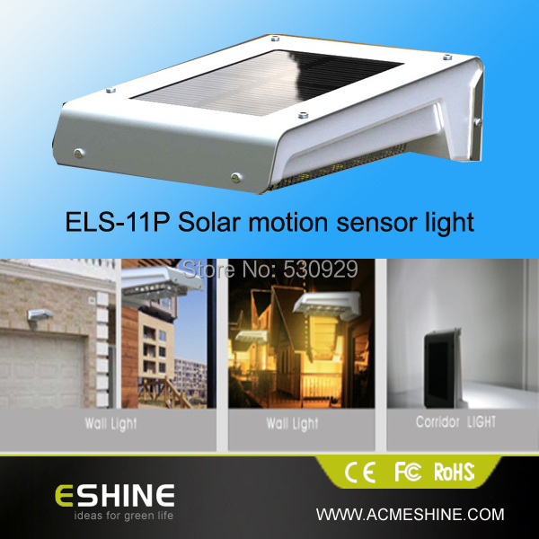 Energy Saving Waterproof IP65 Solar Powered Outdoor Lamp 16 LED Wall Light PIR Induction mounted outdoor solar light - Shenzhen Eshine Technology Co., Ltd. store