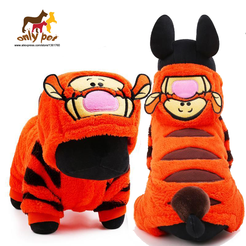 ONLY PET Dog Clothes Winter Dog Clothing Warm Tiger Fleece Clothes Dog Coat Puppy clothes Small dog clothes Size XS Five Size(China (Mainland))