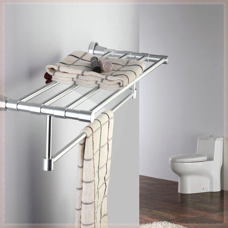 Space aluminum towel rack bathroom hardware towel rack classic towel bar shelf wall bathroom faucet(China (Mainland))