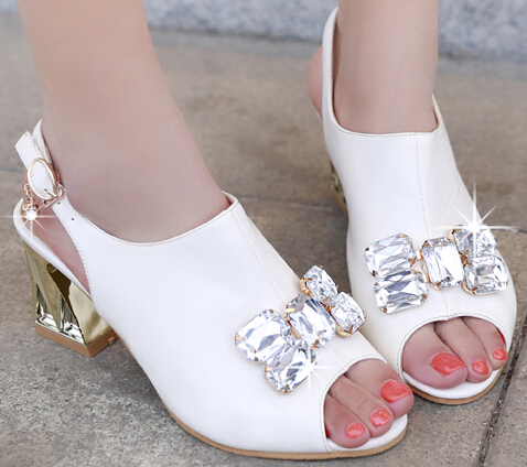 ENMAYEROpen-toed  Sandals Print round toe Women Pumps Ladies High Heels Sandals Pumps Cross ankle gladiator straps Sandals Party<br><br>Aliexpress