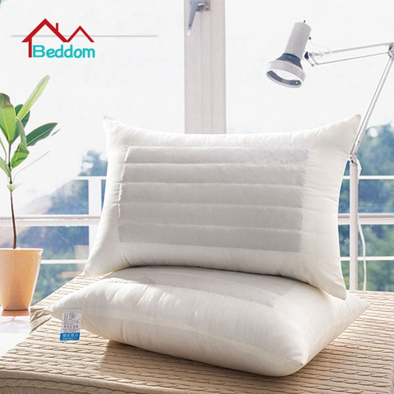 Beddom Pillow White Buckwheat Fillded Health Care Single Bed Pillows Sleeping Pillow Decorative Neck Bed Pillows 73*43cm Quality cheap