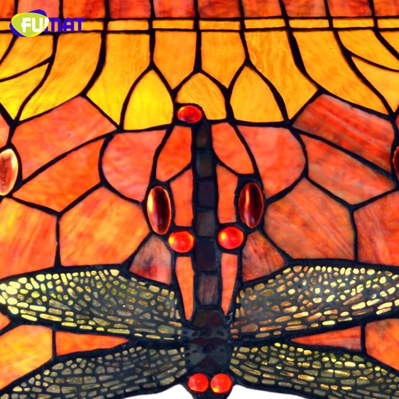 Купить Многоцветный Стеклянный Подвесной Светильник Ресторан Подвесной Светильник Современные Тиффани Бар Лампа Стрекоза Столовая Проекта Огни