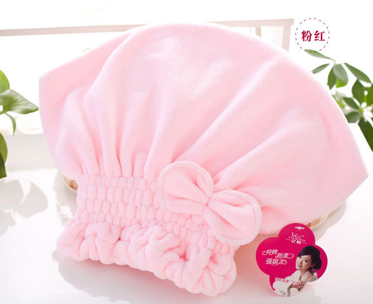 Retail Women round dry hair towels 2015 quickly dry towel girls Personality Absorbent water toalla cap towel for women hot sale(China (Mainland))