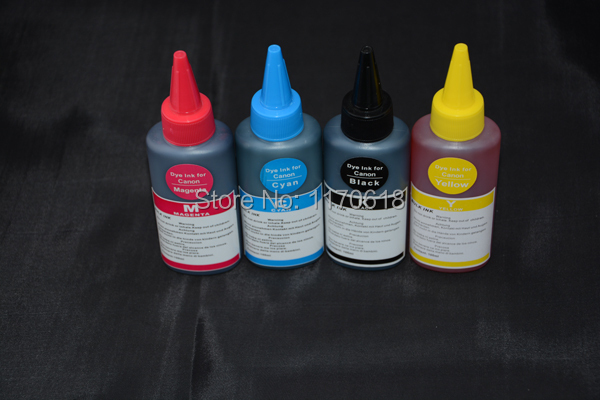dye ink for Epson Stylus 750/720 ,4 color 100 ml and good printing effect(China (Mainland))