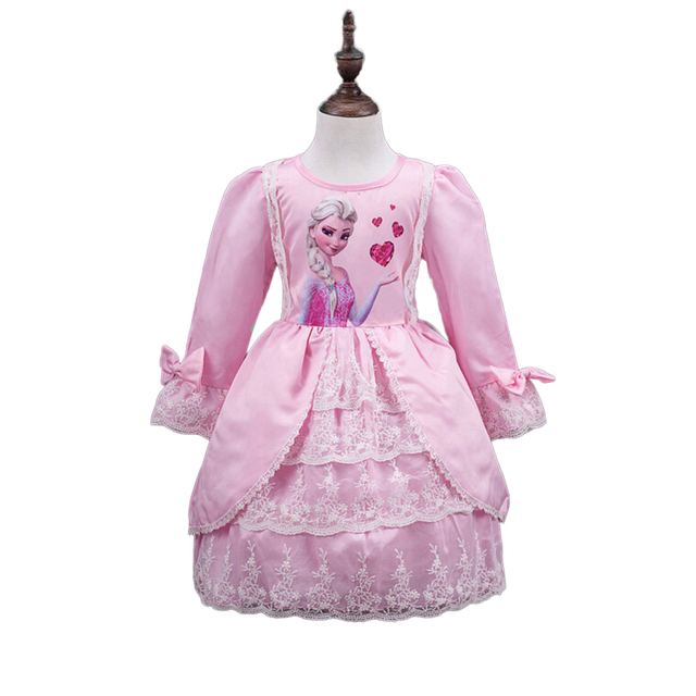 2016 New Elsa Costume Little Girls Dresses Princess Princess Costume Printable