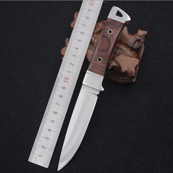 Buy SHNAPIGN Stainless Steel Fixed Knife Hunting Knife Outdoor Tool Camping Small fixed blade Knife Color Wood Handle Knives SH45 cheap