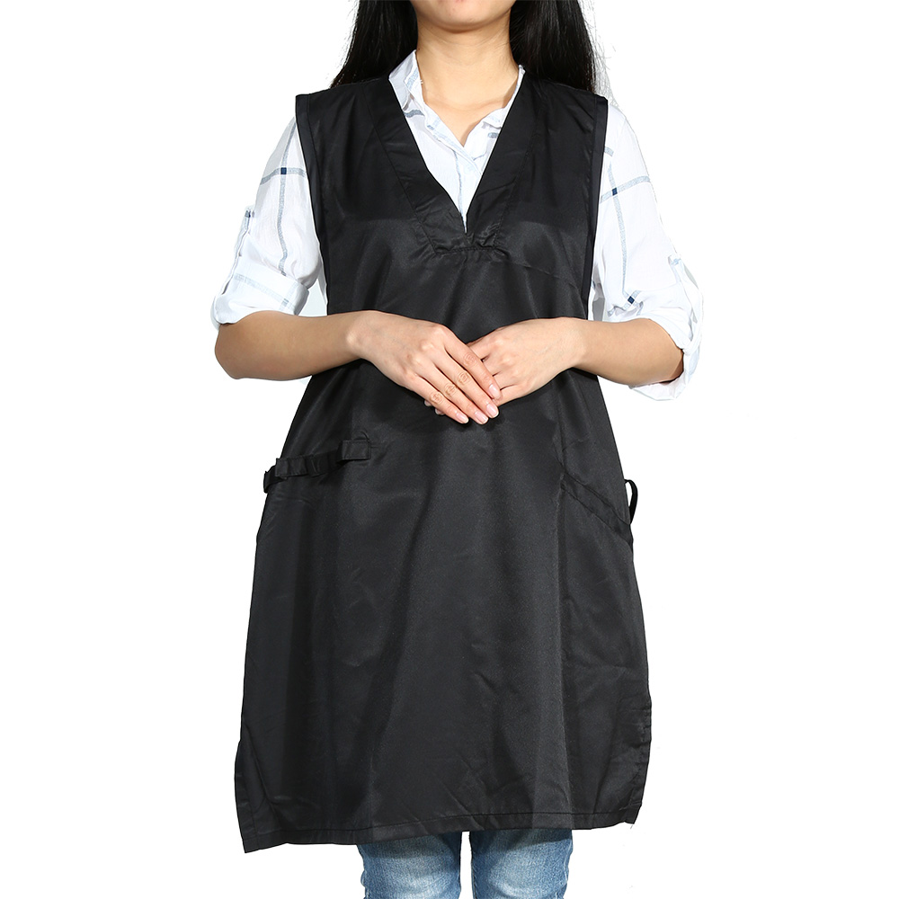 Black Hairdresser Hairdressing Cape Apron Lace-up Design Salon Barber Hair Cutting Gown Cloth Water Resistant Hair Styling Tools(China (Mainland))