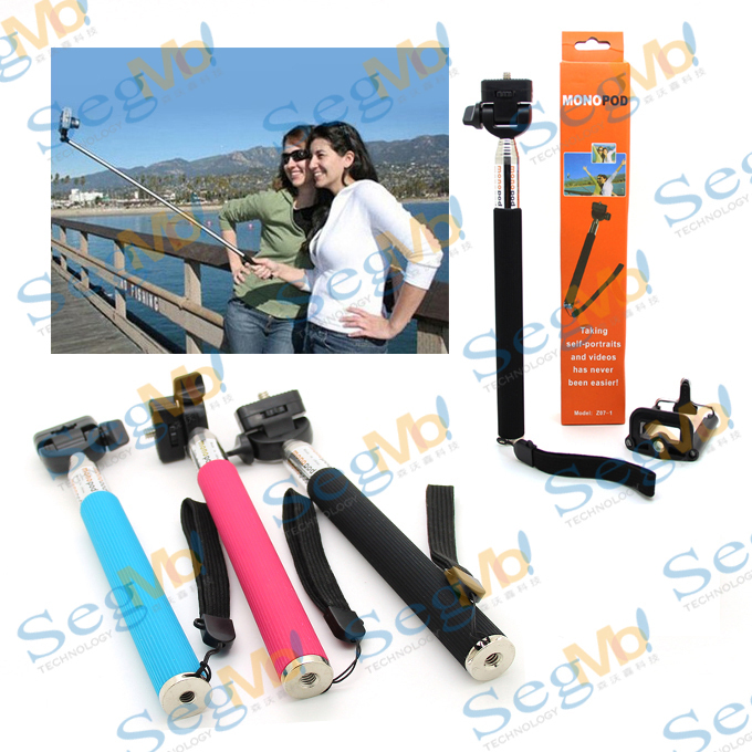 Portable Tripod Extendable 22-110CM Handheld Monopod Universal 5.0-8.5CM Clip Holder Camera iPhone Samsung Blackberry - SegMoi Techology Co,.Ltd store