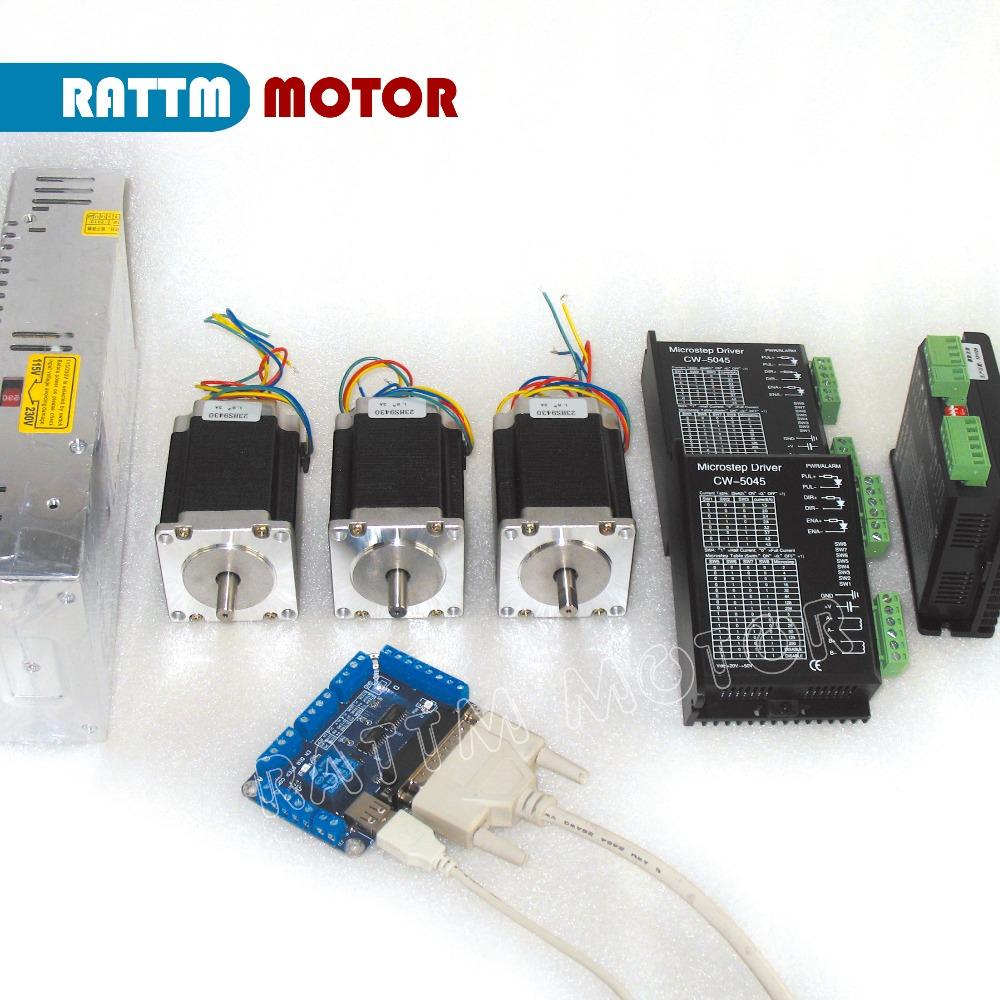 Eu au delivery 3 axis cnc controller kit nema23 270oz in for 3 axis nema 23 stepper motor driver controller cnc kit