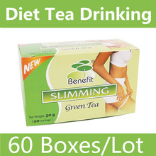 60 Boxes/Lot Fast Weight Loss Green Drinking Diet Tea Heathy Safe Slimming Burn Fat Tea (China (Mainland))