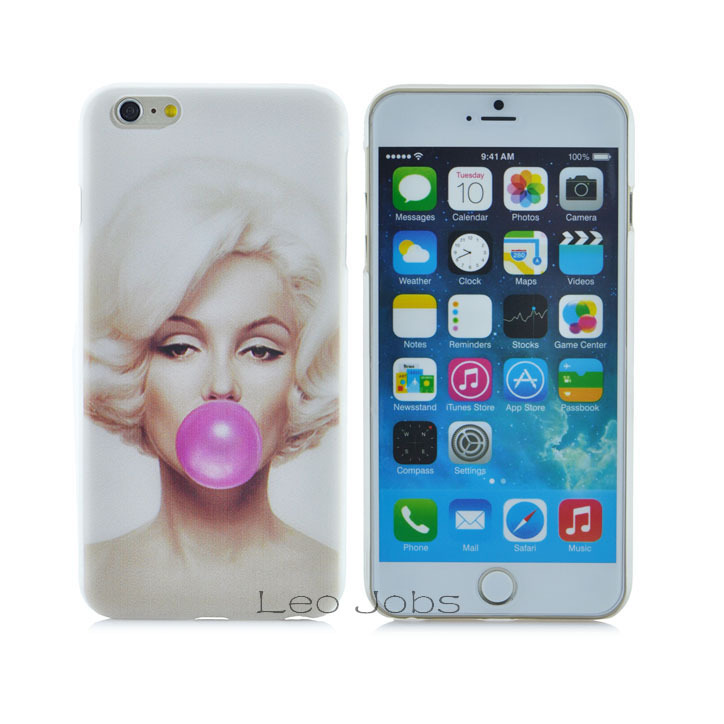 Style Marilyn Monroe Bubble Gum Hard Cover back Protective phone case iphone 6 plus 5.5 inch YC160-6plus - LOVECOM Official Flagship Store store