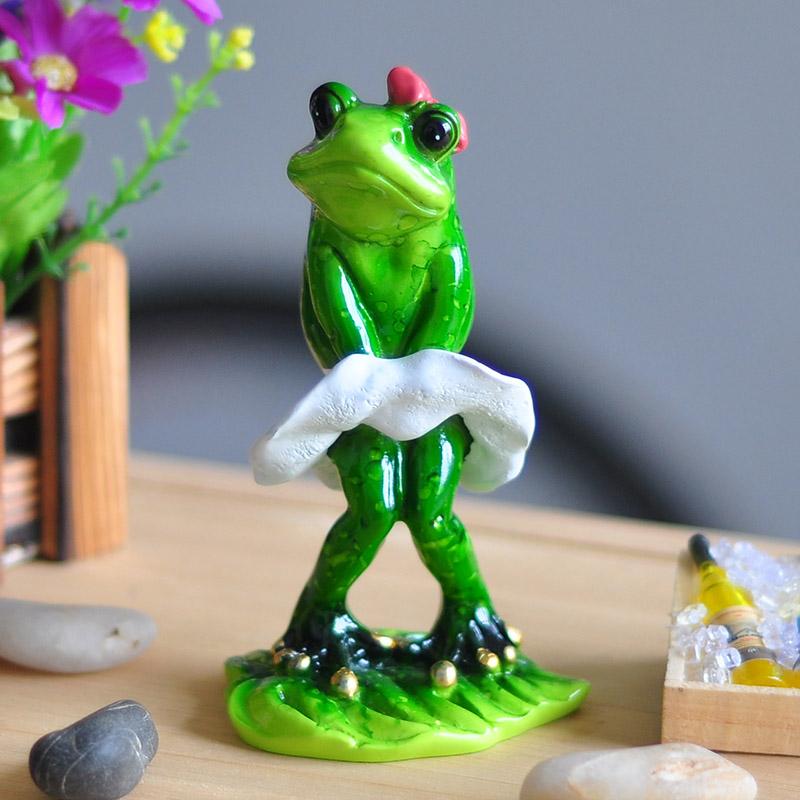 Estatua de resina cute frog resin crafts ecoracion jardin - Figurine de jardin ...
