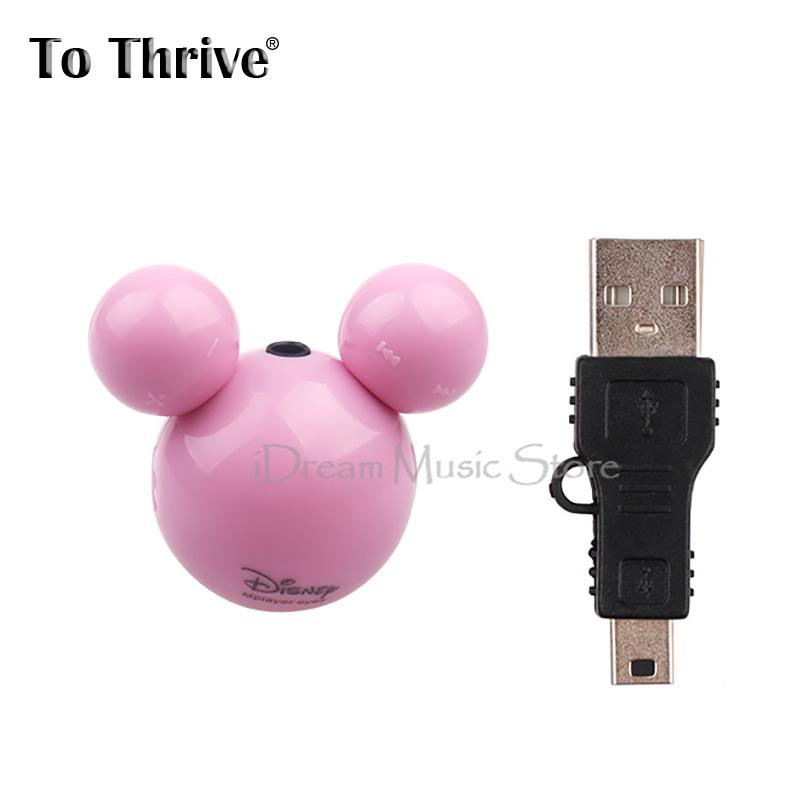 To Thrive Fashion Mickey MP3 mini MP3 player with micro TF/SD card slot Lovely shape mp3 music player (MP3+Mini USB)(China (Mainland))