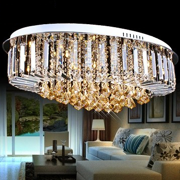 Free shipping luxury crystal ceiling light lamp,modern simple light for home,k9 crystal ceiling lights with remote control