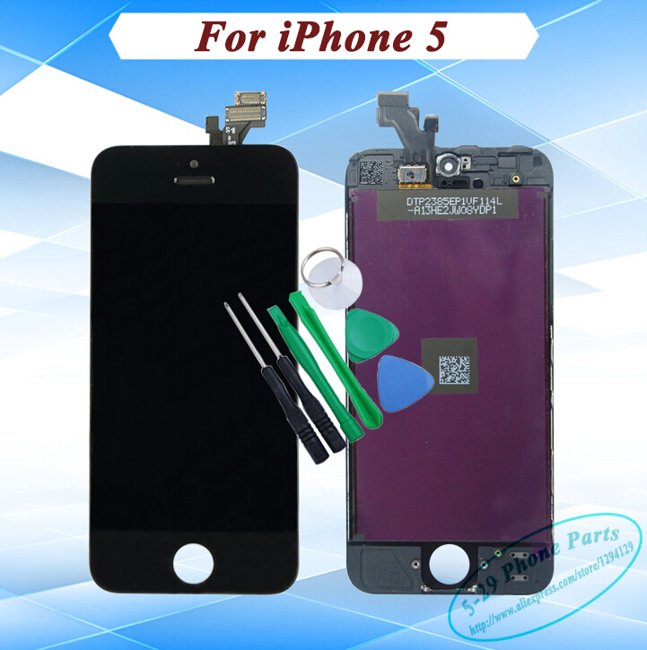 Black White Original LCD Display + Copy Digitizer Touch Screen lcd Assembly Complete iPhone 5 - 5-29 Phone Parts store