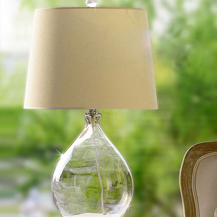 Modern Loft Vintage America Country Lustre Fabric Glass Edison Table Lamp Industrial Study Bedside Reading Home Decor Lighting