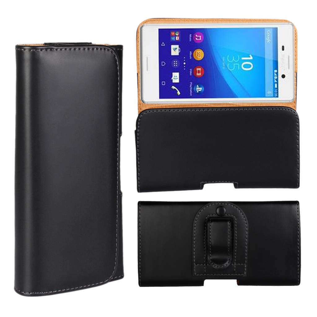 Leather Horizontal Holster Belt Clip Cellphone Wallet Case For Sony Xperia M4 Aqua Mobile Phone Cases Magnetic Pouch cover Black(China (Mainland))
