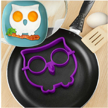 Delicate Kitchen Silicone Owl Fried Egg Mold Egg Ring Shaper Novelty Fun Purple Color Hot Selling(China (Mainland))
